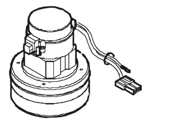 Saugmotor 24V - 400W für Ruby